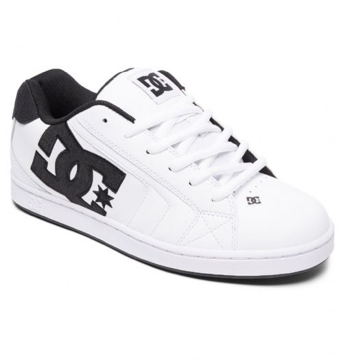 DC SHOES MENS TRAINERS.NET SE WHITE LEATHER SKATE RUBBER SOLE SHOES 8W 97 XWWK